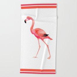 flamingo steps Beach Towel