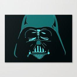 Tron Darth Vader Outline Canvas Print