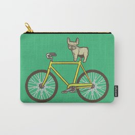 Frenchie on a Fixie Carry-All Pouch
