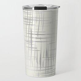 Crosshatch Silver Travel Mug