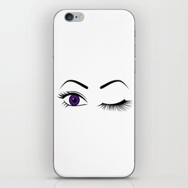 Violet Wink (Right Eye Open) iPhone Skin