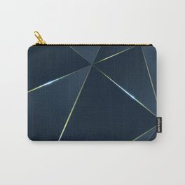 premium triangle polygons royal blue desig Carry-All Pouch