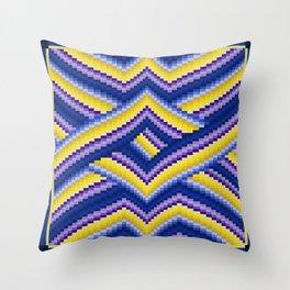 Bargello Quilt Pattern Impression 2 Throw Pillow