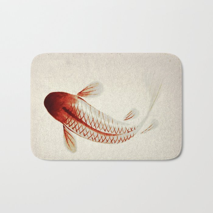 Red and Silver Koi Bath Mat