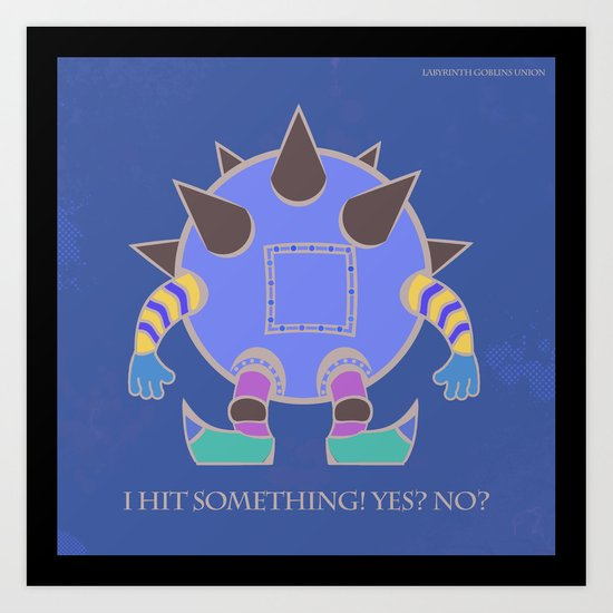 Labyrinth Goblins Union Art Print