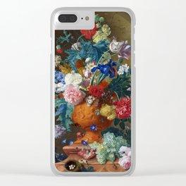 "Jan van Huysum ""Flowers in a Terracotta Vase"" Clear iPhone Case"