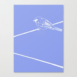 On a Blue Wire Canvas Print