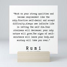 116   | Rumi Quotes | 190221 Mini Art Print