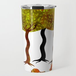 Three friends under the trees Travel Mug