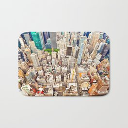 New York Buildings Bath Mat