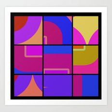 Colorful Squares Art Print
