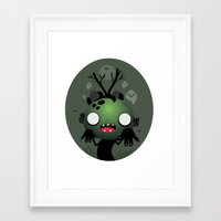 zombie Framed Art Prints featuring Zombie by Maria Jose Da Luz