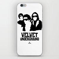 velvet underground iPhone & iPod Skins featuring VELVET UNDERGROUND W by zzglam