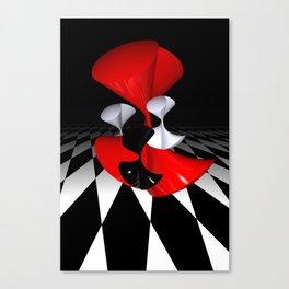 polynomails on harlekin - patterned plane Canvas Print