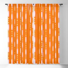 Beaded Curtain Orangepink Blackout Curtain