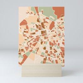 SANTIAGO DE CHILE CITY MAP EARTH TONES Mini Art Print