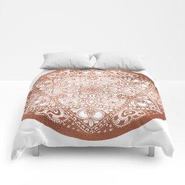 Rose Gold Floral Mandala Comforters