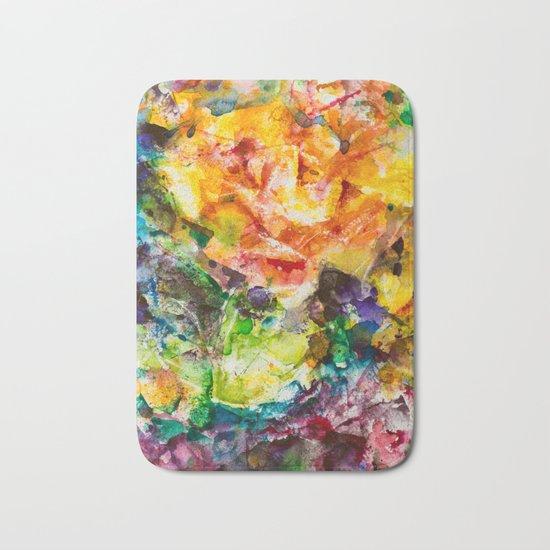 Abstract roses Bath Mat