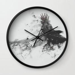 Smoke Crow Wall Clock