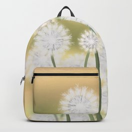 Dandelions in the morning sun Backpack