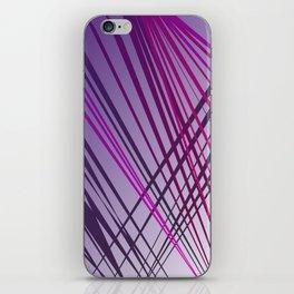 wild lines pink ethnic iPhone Skin