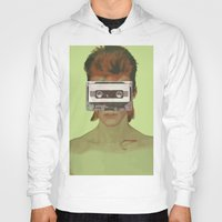 aladdin Hoodies featuring Taped Over Aladdin Sane by AudioVisuals