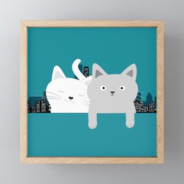 City Cats Framed Mini Art Print