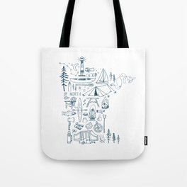 Minnesota Up North Collage Tote Bag
