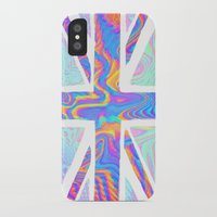 holographic iPhone & iPod Cases featuring Holographic Union Jack  by Berberism Lifestyle