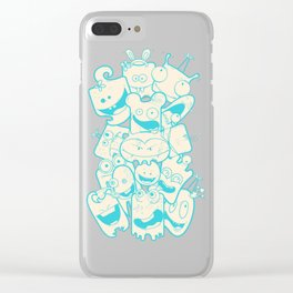 Crazy Monsters Clear iPhone Case
