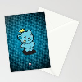 Blue Dead Bear Stationery Cards