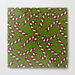 Candy Cane Pattern Metal Print