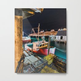 Peggy's Cove by Night Metal Print