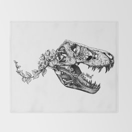 Jurassic Bloom - The Rex.  Throw Blanket