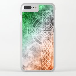 Irish Celtic Cross Clear iPhone Case