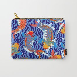 Koi fish / japanese tattoo style pattern Carry-All Pouch