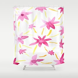 Magenta Love Shower Curtain