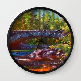 Reflections - Merced River Wall Clock