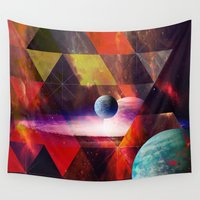planet Wall Tapestries featuring Planet by Tony Vazquez