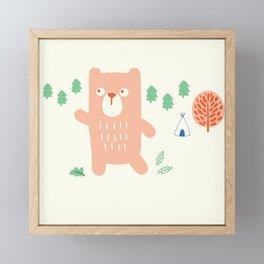 Bear in the Woods Framed Mini Art Print
