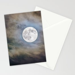 Halloween Full Moon Stationery Cards