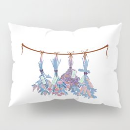 Herbs in Pastel Color #Urquoise Pillow Sham