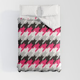Neon Goth Houndstooth Pattern Comforters