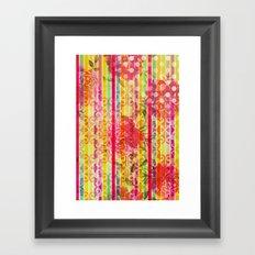 Retro Pattern Collage Framed Art Print