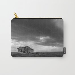 Sweeping Down the Plains - Abandoned House and Storm in Oklahoma Carry-All Pouch
