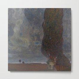 Gustav Klimt - Approaching Thunderstorm (The Large Poplar II) Metal Print