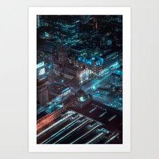 Eureka Over Flinders, Melbourne Art Print