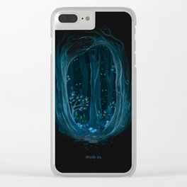 Walk into the woods. Clear iPhone Case