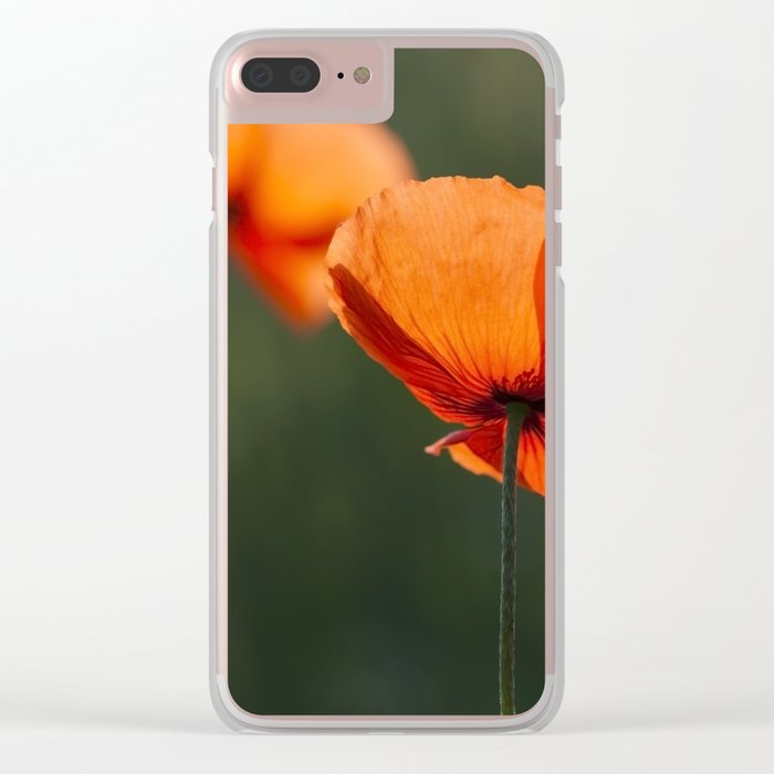 Poppies secretly in love Clear iPhone Case