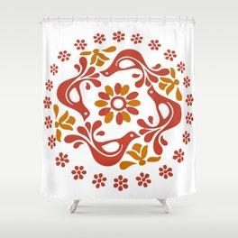Vintage Pyrex Friendship Print Shower Curtain